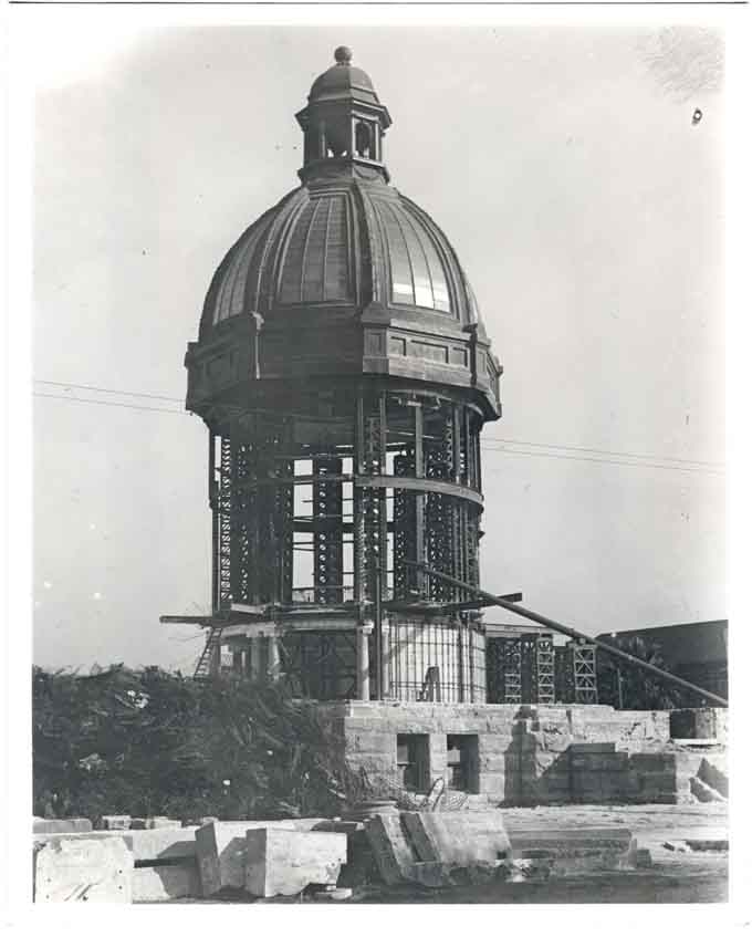 San Mateo County Courthouse dome construction 1904 Redwood City Local History Room