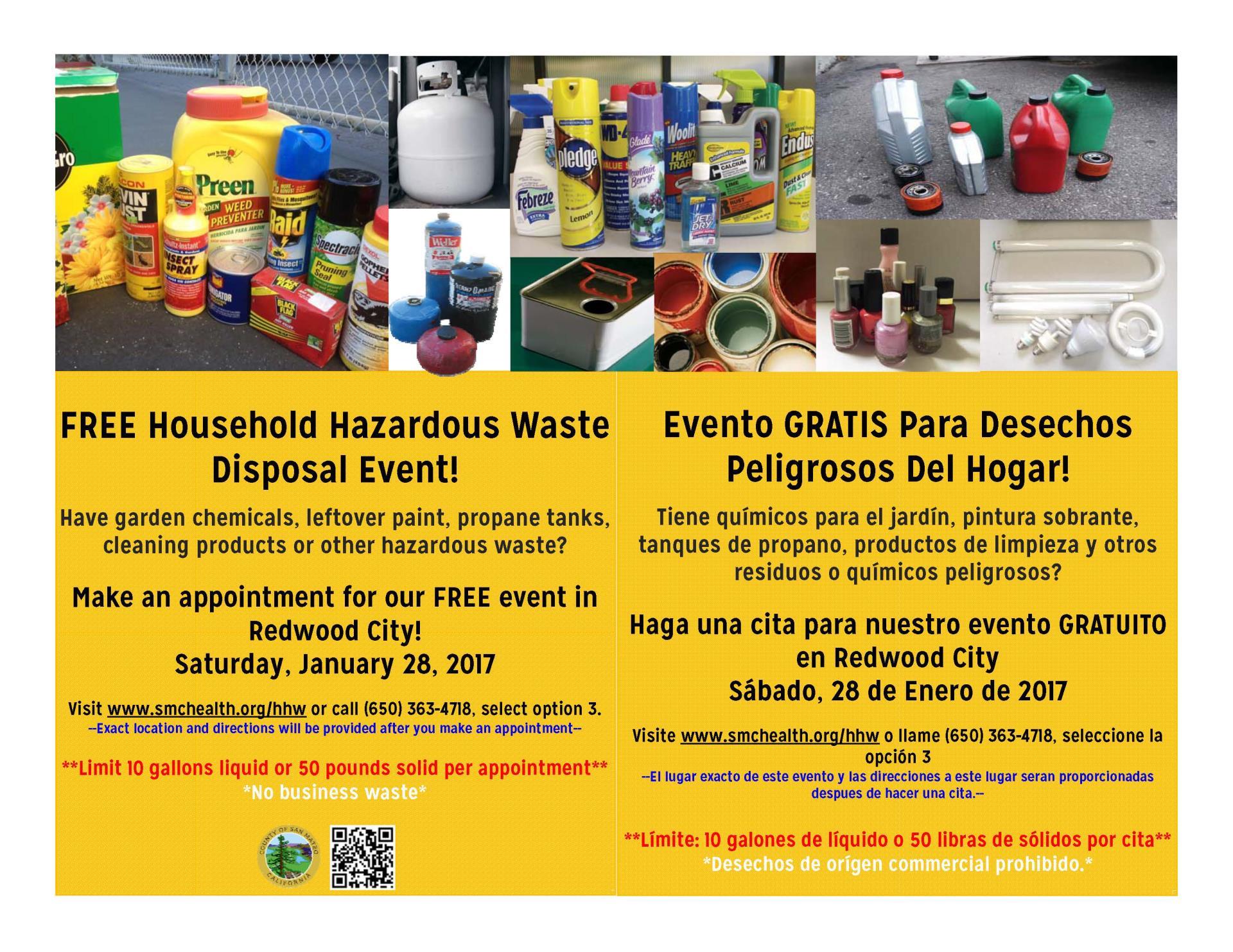 FREE Household Hazardous Waste Disposal Event! | City Events