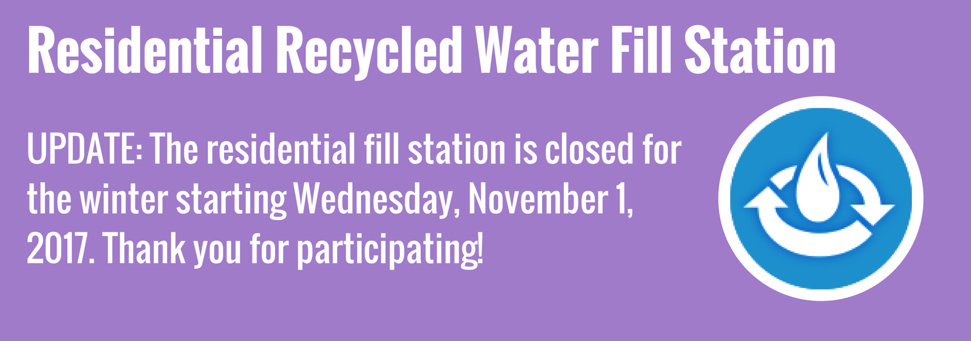 Residential Recycled Water Fill Station