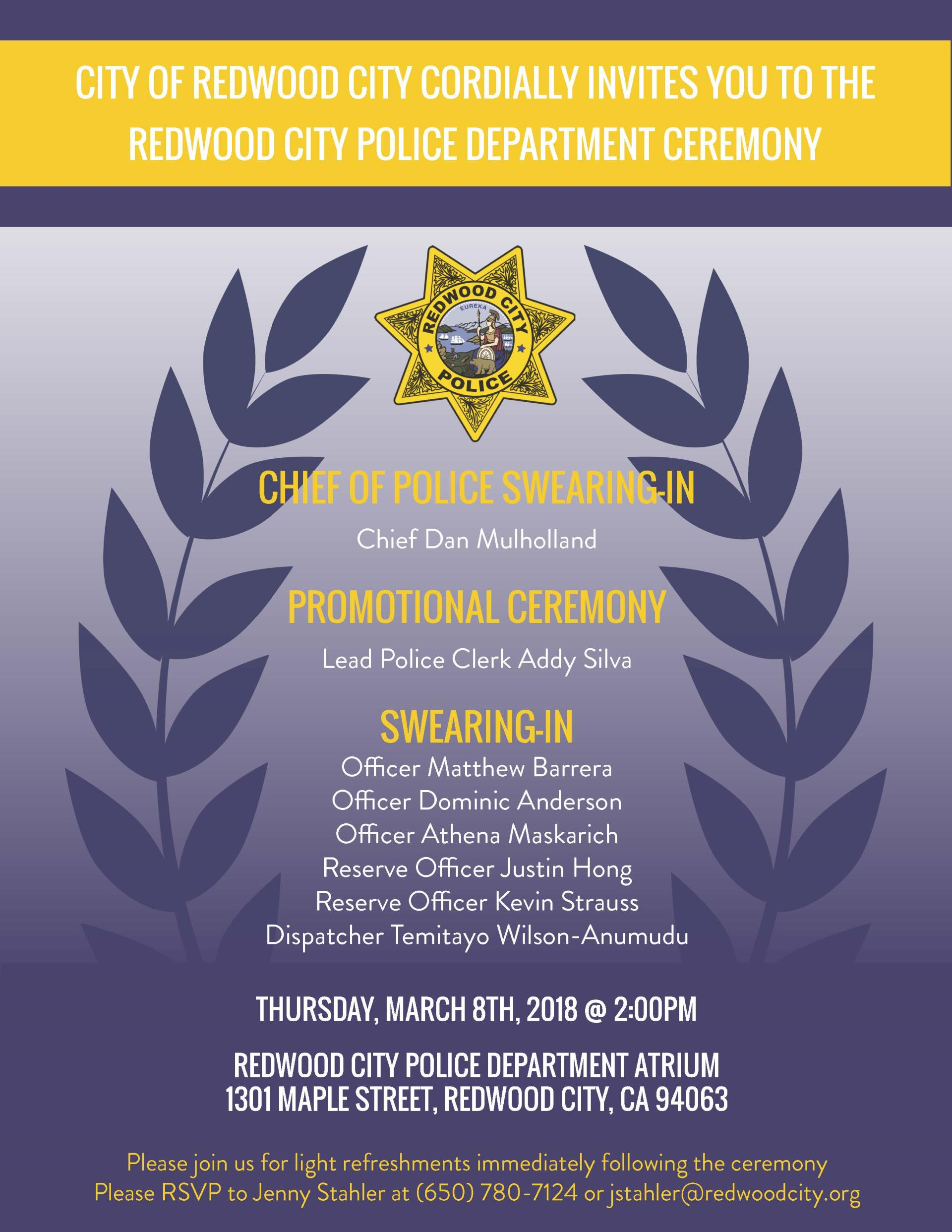 RCPD Swearing In Ceremony 3.8.18