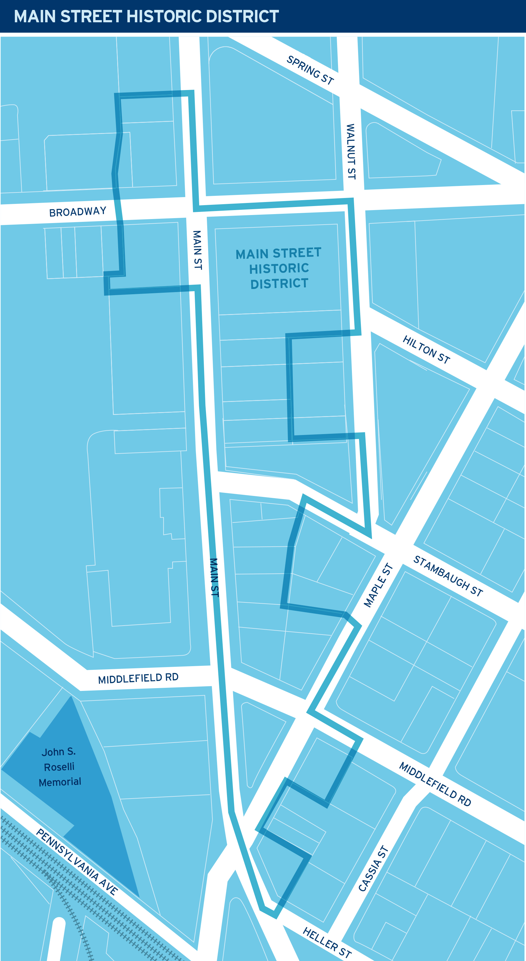 New Main Street Historic District Map