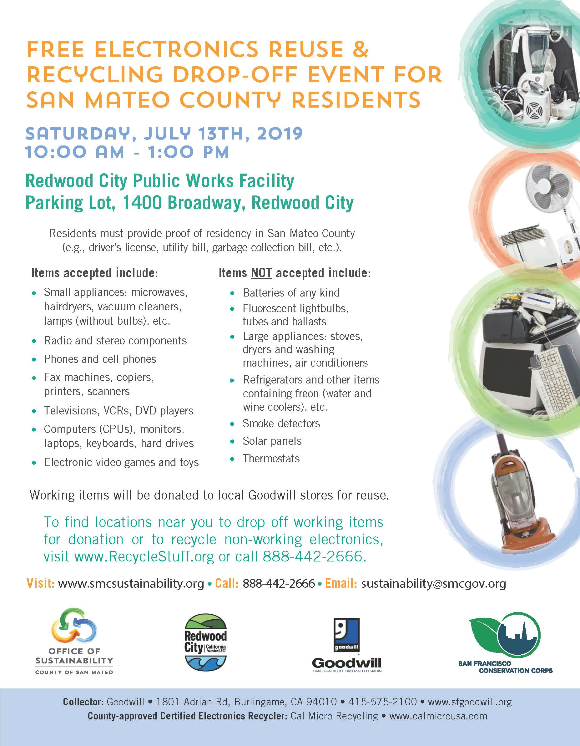 FREE Electronics Reuse & Recycling Drop-Off | City Events
