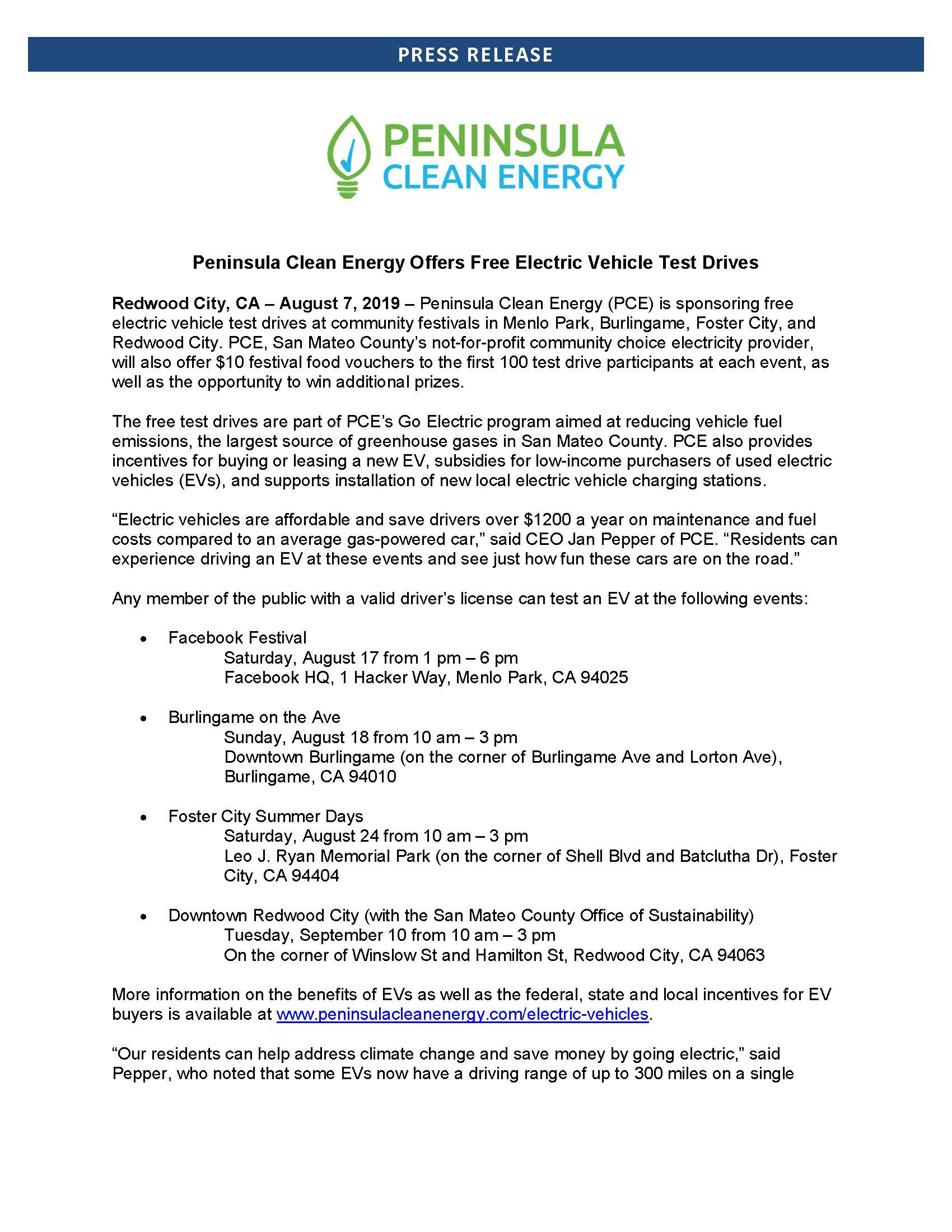 PCE Press Release Free EV Test Drive Events _Page_1