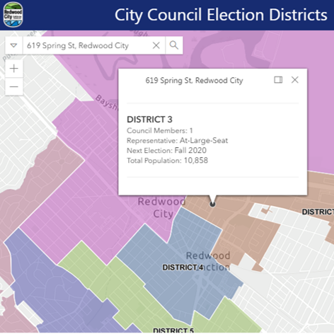 City Council Election Districts Map