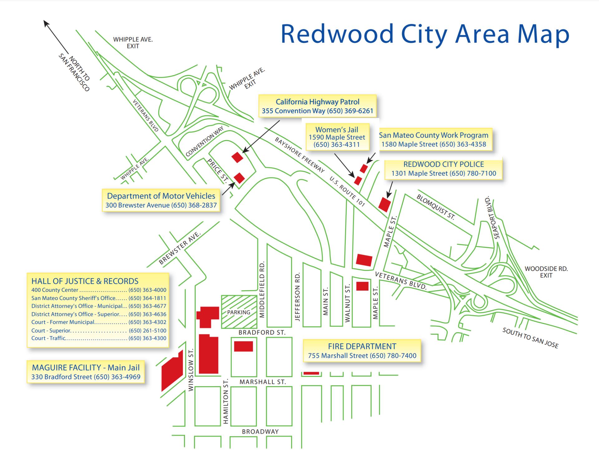 Area Map | City of Redwood City