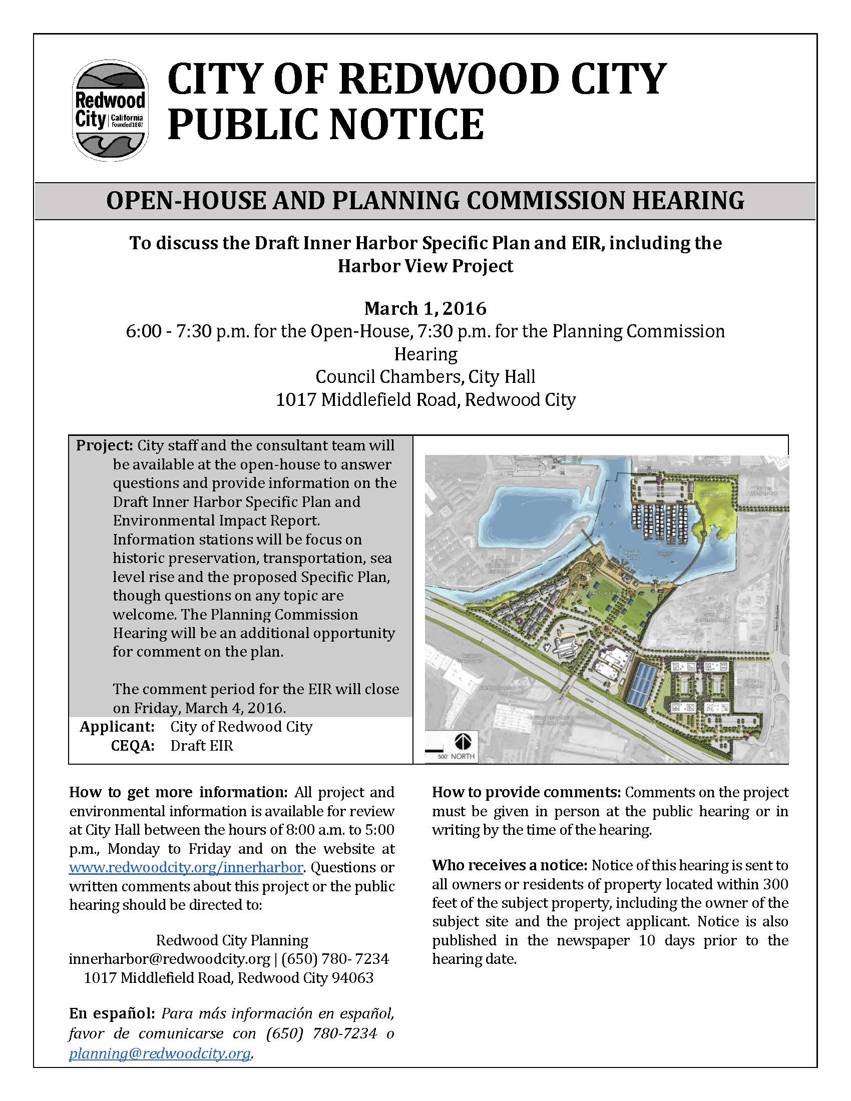 Open-House and Planning Commission Hearing | City Events Calendar | City of  Redwood City