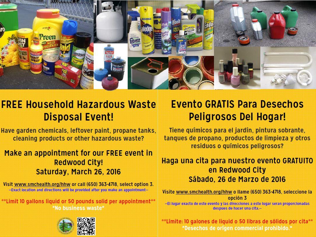 FREE Household Hazardous Waste Disposal Event! | Calendar Meeting