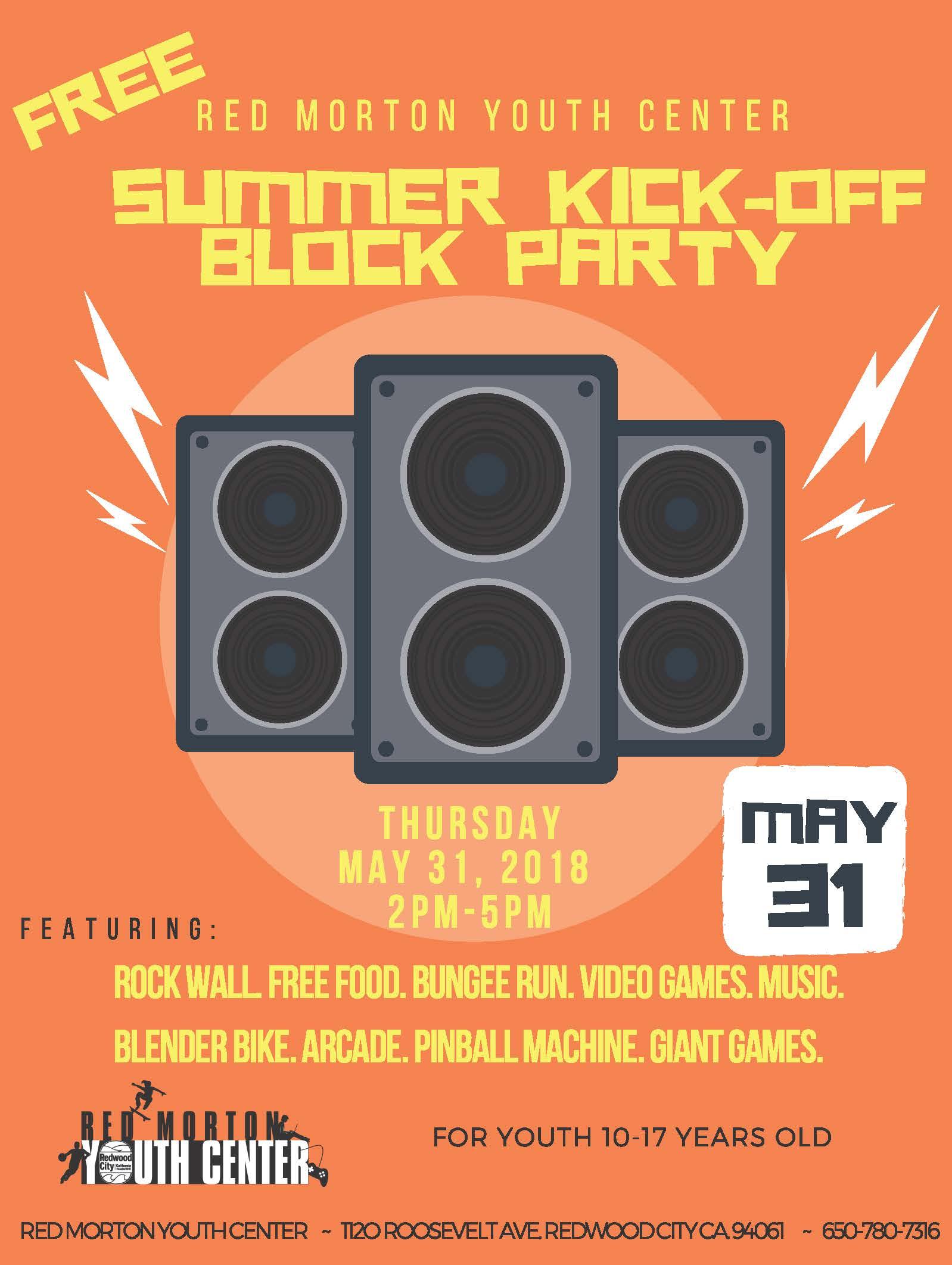 Summer Kick Off Block Party 2018 English