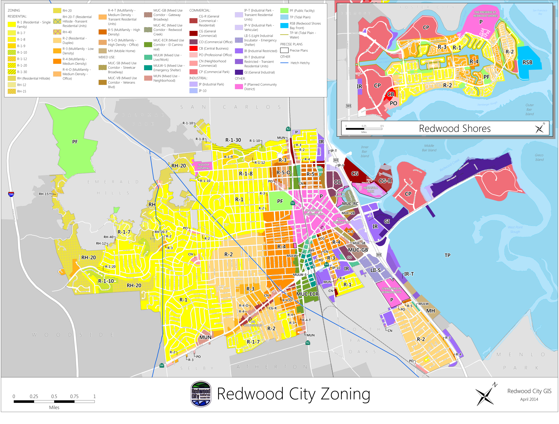 Map Gallery | City of Redwood City on